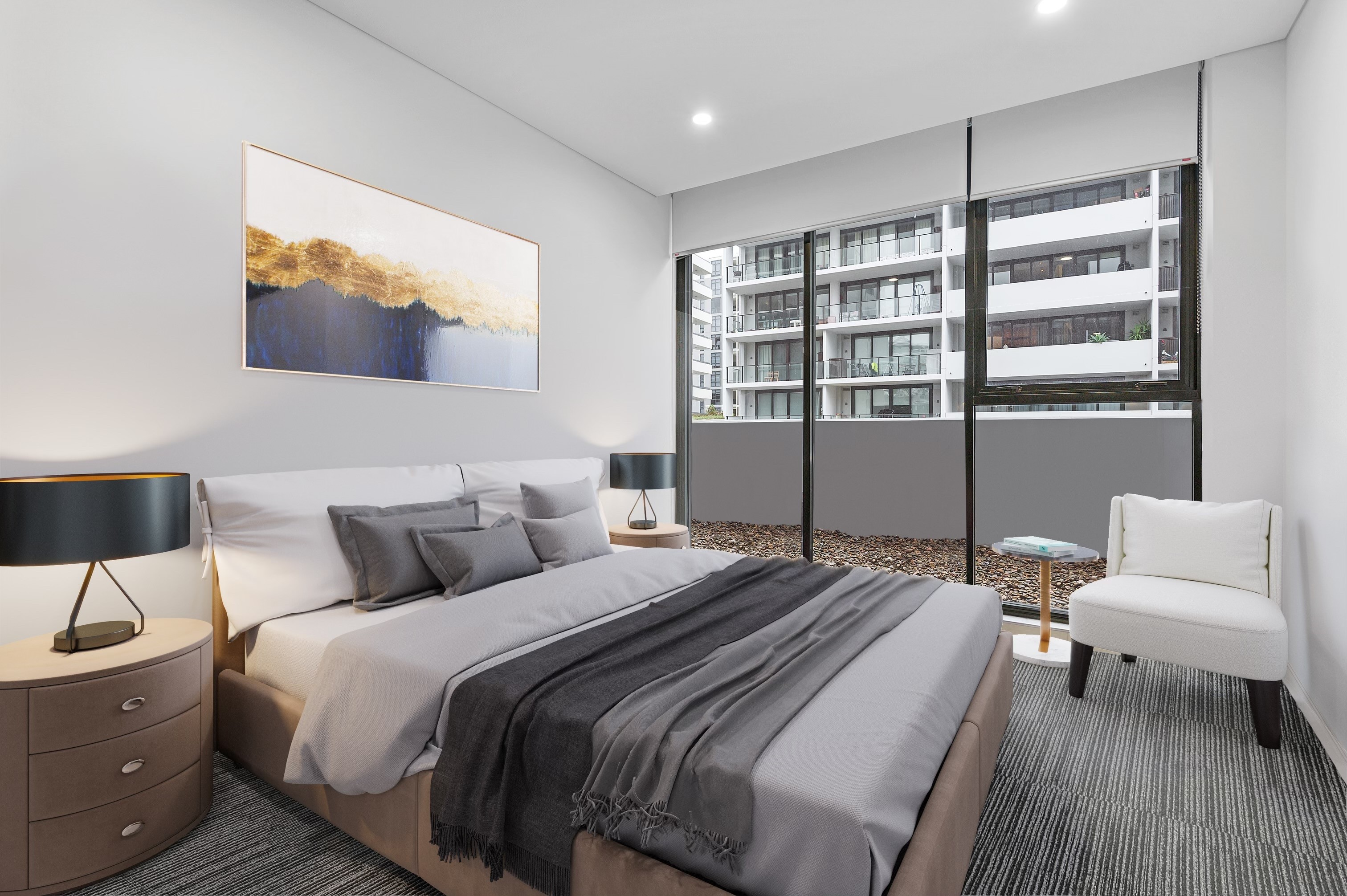 Image: 1  Bedroom Plus Study can be used as 2nd bedroom Apartment in the Heart of Mascot