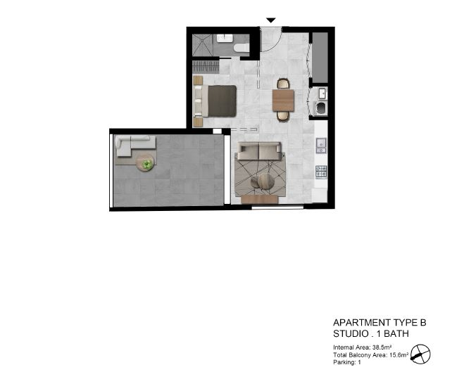 Image: Brand New One Bedroom Studio Apartment. Ready to move in!