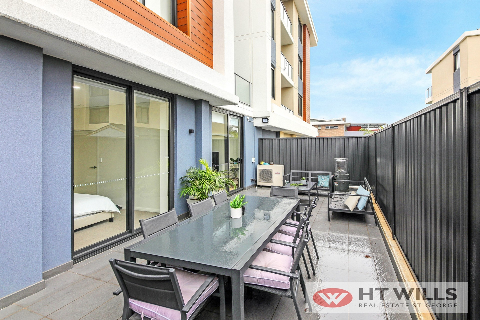 Villa style 2 bedroom plus study apartment located on the ground floor