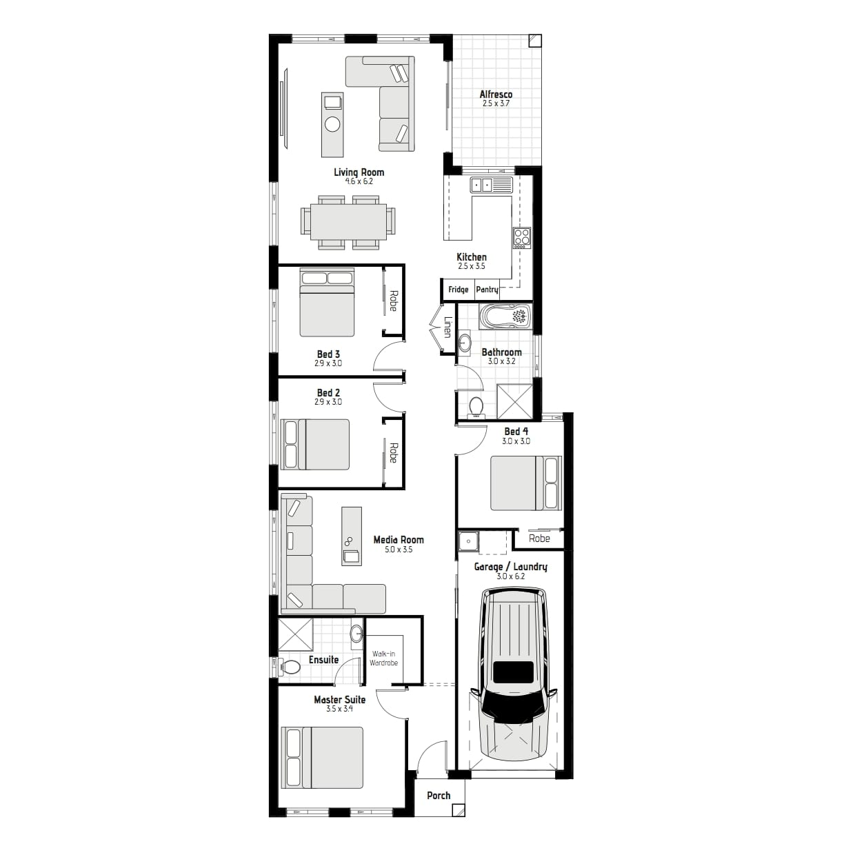21974042 ROUSE HILL NSW 2155 - Floor plan
