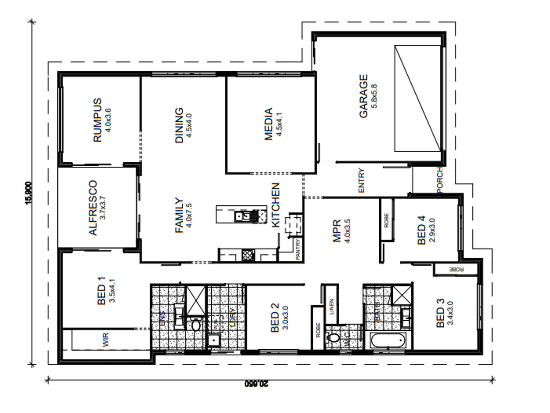 Banksia Beach – L9260313 Floor Plan