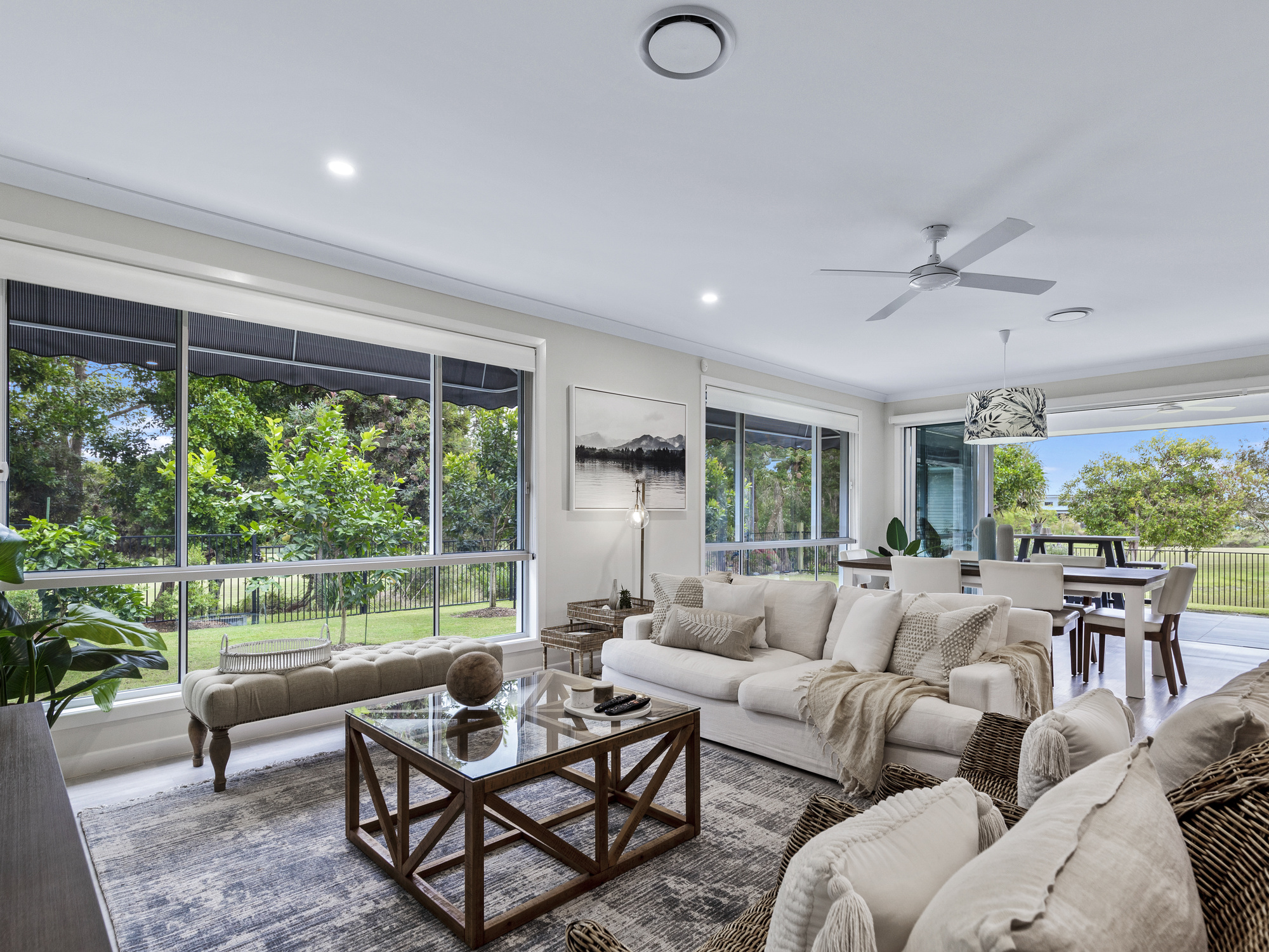 SPECTACULAR WATER & NATIONAL PARK VIEWS FROM THIS MODERN COASTAL LUXURY HOME