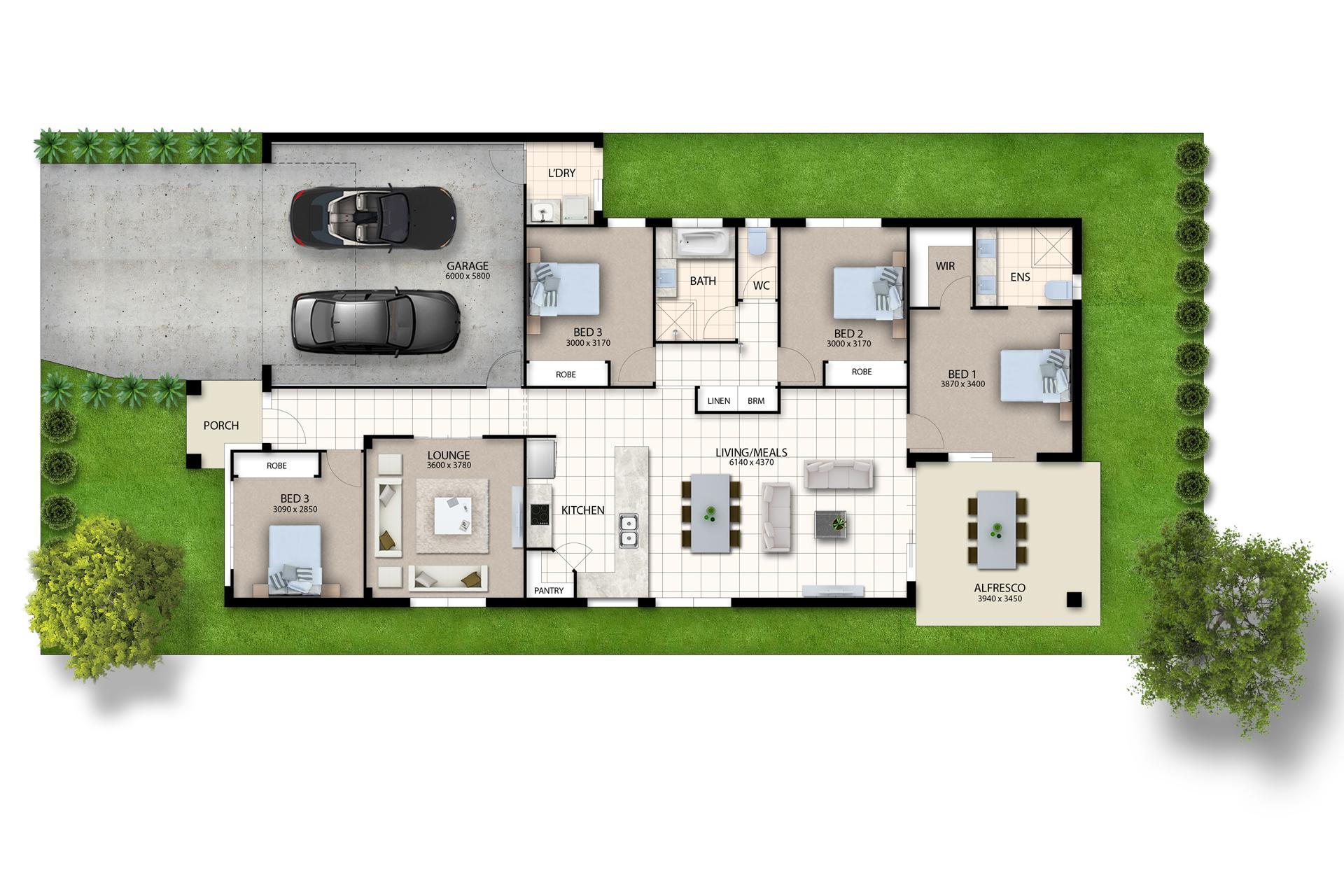 Banksia Beach – L9763916 Floor Plan
