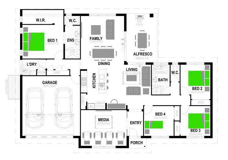 Woodhill – L14388414 Floor Plan