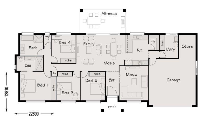 Hatton Vale – 22905848 Floor Plan